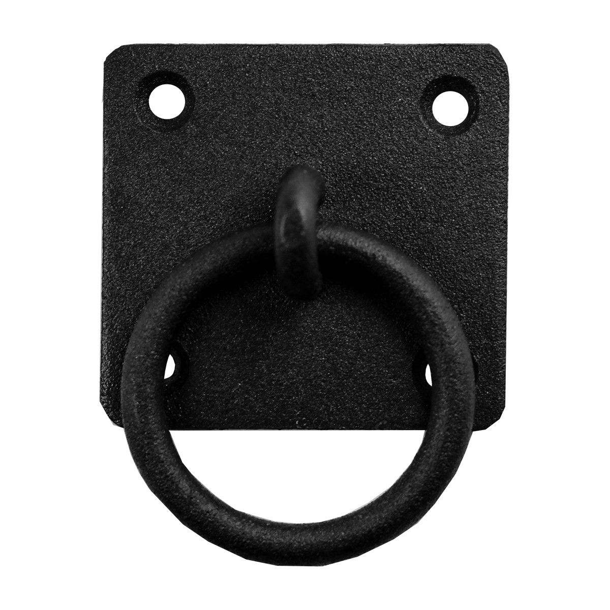 wrought iron ring pull black cabinet hardware rustic style