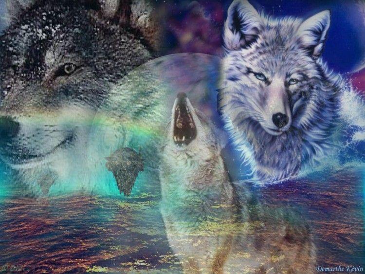 Fonds D Ecran Art Numerique Fonds D Ecran Animaux Les Loups 2 Par Kevillome Hebus Com Loup Beau Paysage Art Numerique