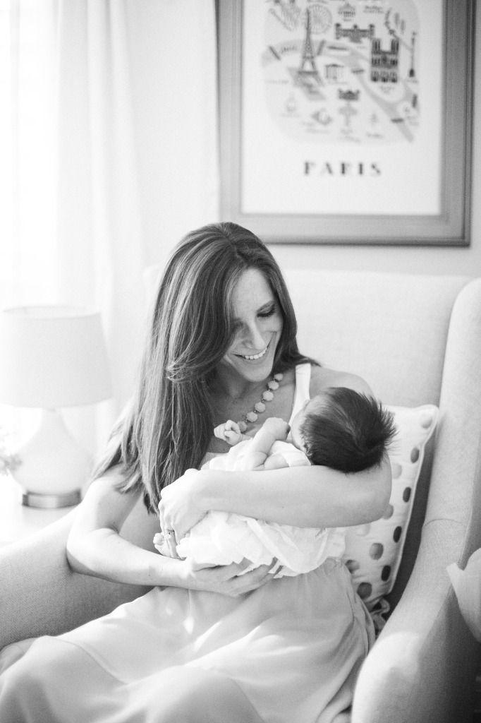 Mom and newborn in the nursery