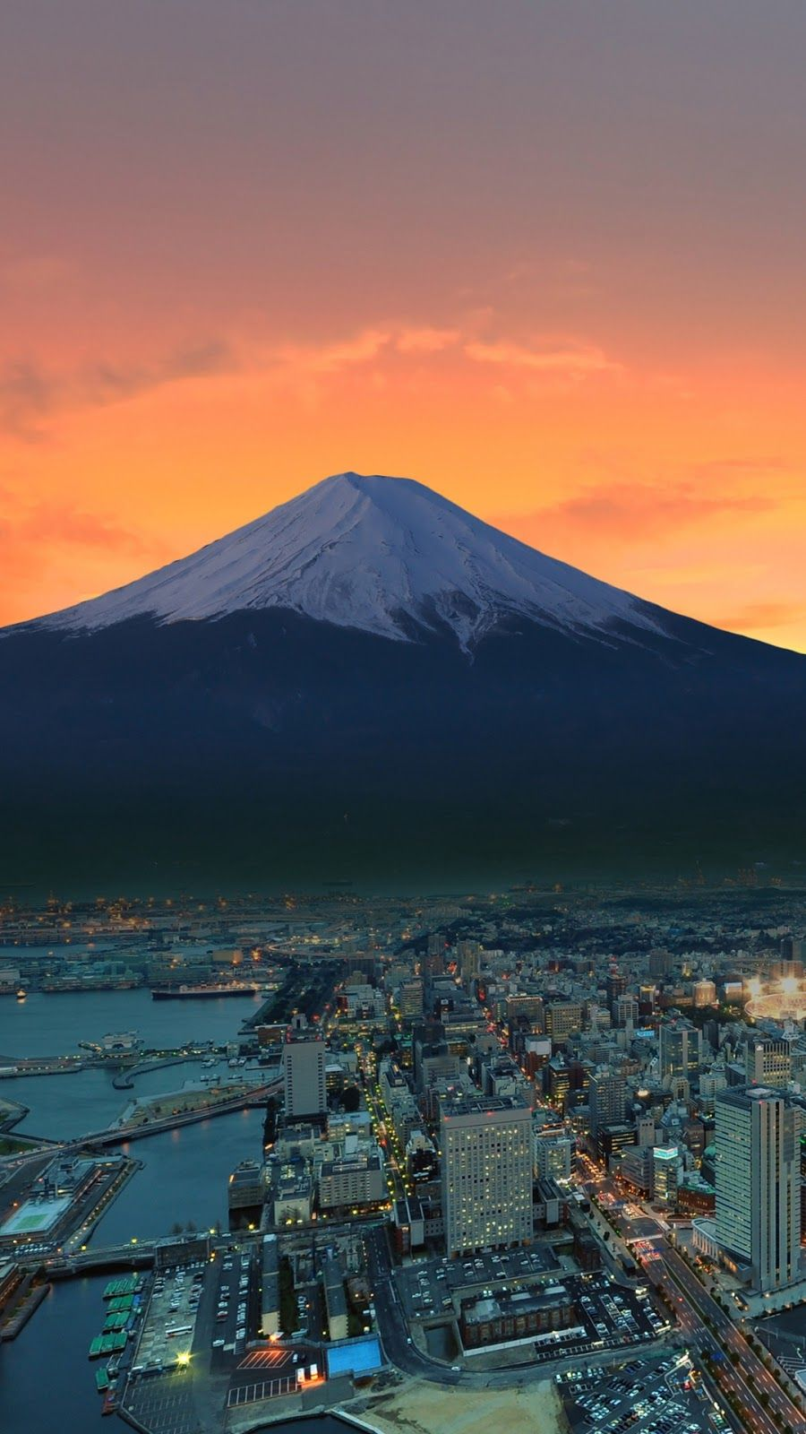 Sunset On Mount Fuji Tokyo 1080 X 1920 Iphone Wallpaper Japan