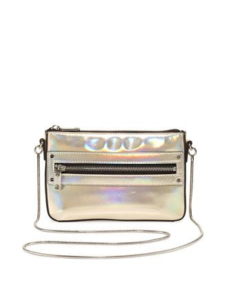 Demi Hologram Mini Crossbody Bag, Champagne by Milly at Neiman Marcus.