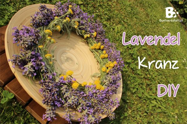 how to make a lavender wreath lavendel kranz binden anleitung nature craft health natural. Black Bedroom Furniture Sets. Home Design Ideas