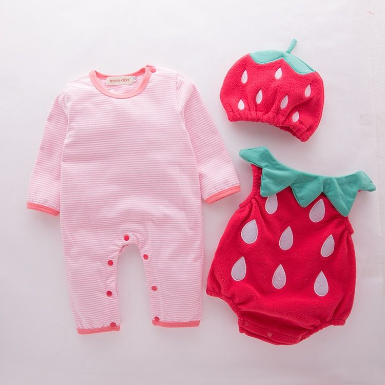 48ff5ec39 Find More Rompers Information about Baby girl outfit strawberry ...