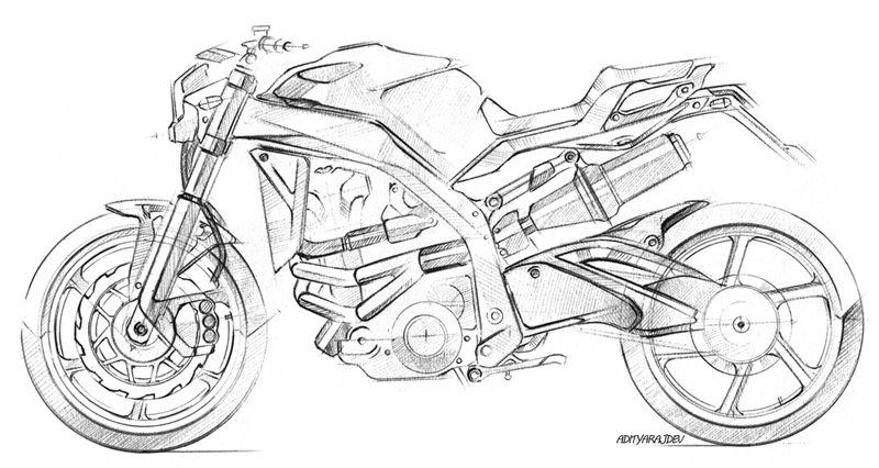 Art Design Motorcycle Concept Sketching By Adityaraj Dev With