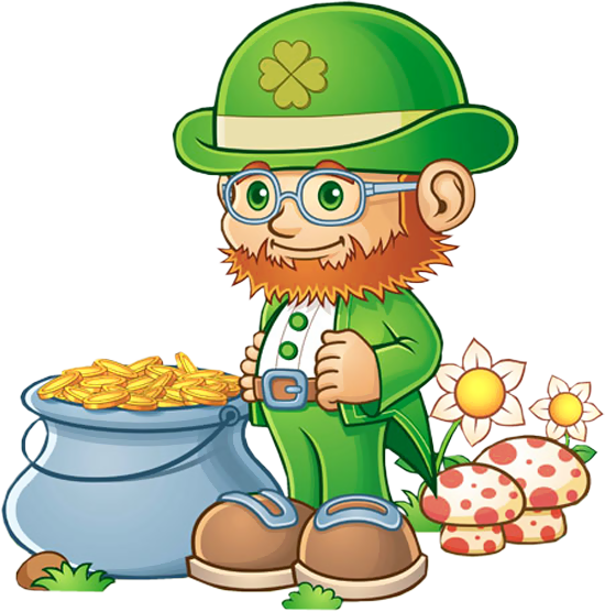 leprechaun with pot of gold png clipart st patricks day clip art rh pinterest com au leprechaun clipart black and white clip art leprechaun free