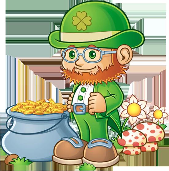 leprechaun with pot of gold png clipart st patricks day clip art rh pinterest com