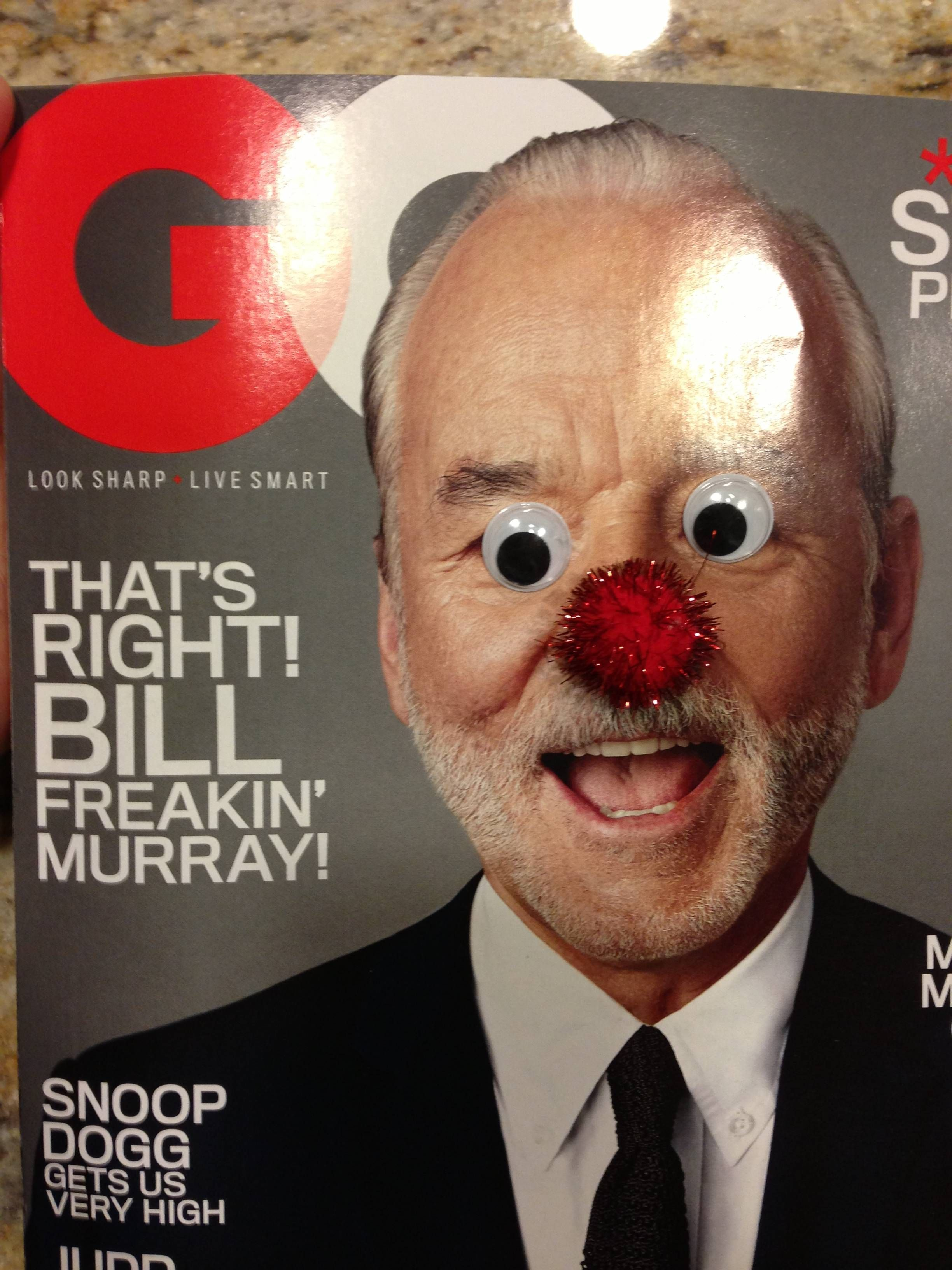 Bill Murray Loves Googly Eyes