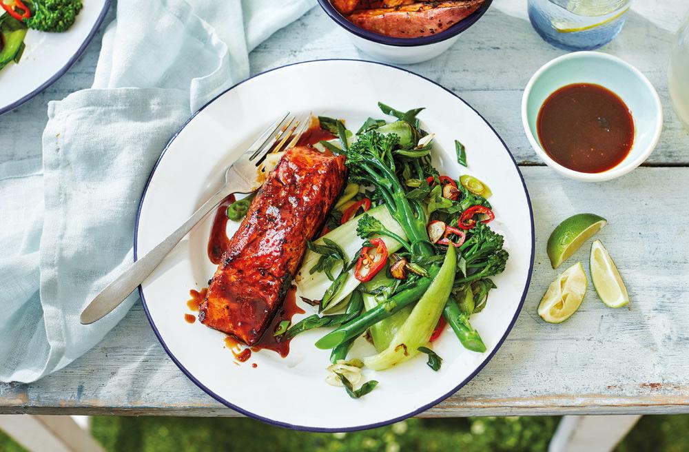 Rum-Glazed Salmon Recipe | Salmon Fillet Recipes | Tesco Real Food
