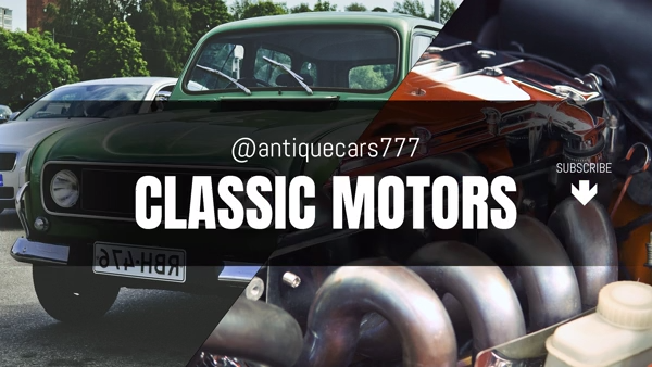 YouTube Banner Template for a Classic Car Channel