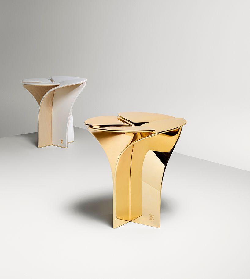 tokujin yoshioka shapes blossom stool referencing louis vuitton\'s ...