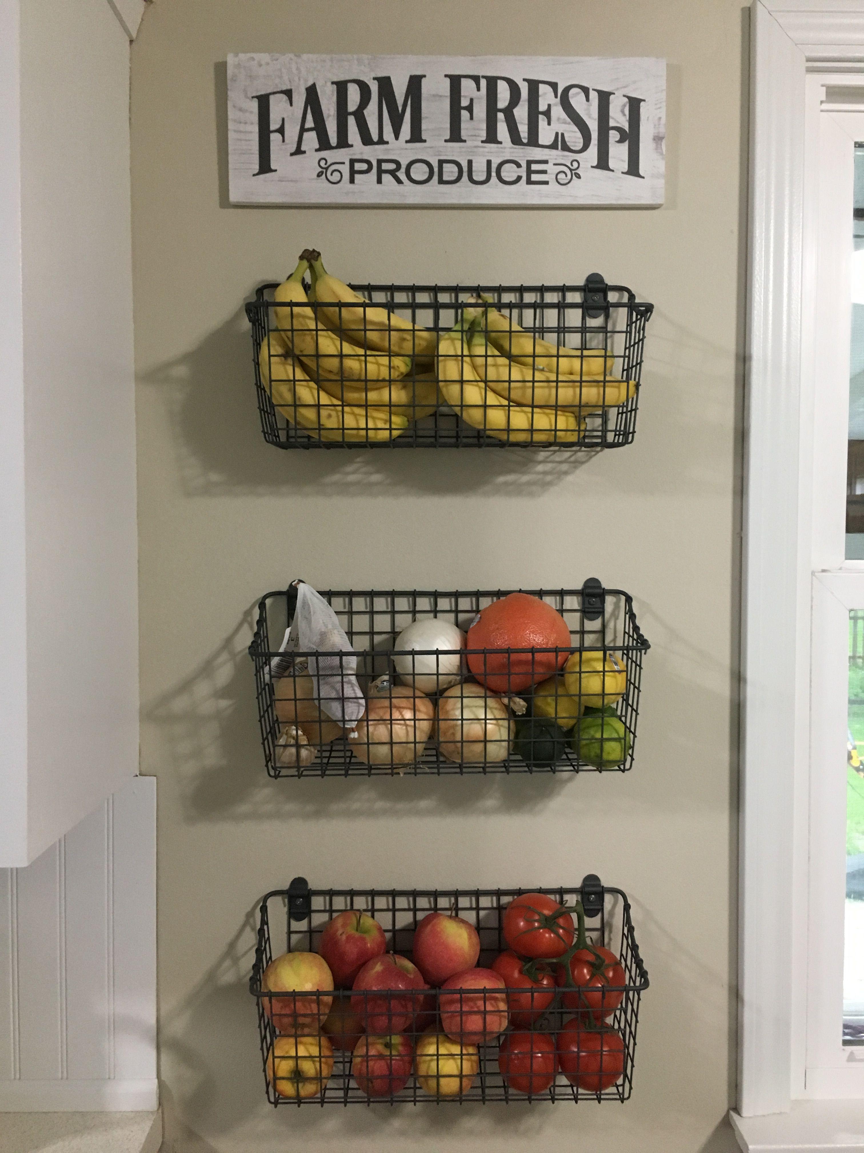 Kitchen Produce Wall Baskets Kitchen Baskets Kitchen Wall