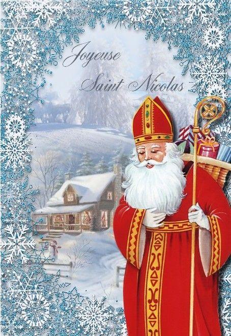 carte de st nicolas Carte ~Saint Nicolas ~ à imprimer | Saint nicolas, Père fouettard