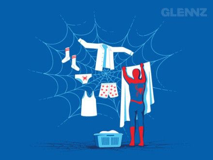 spiderman do laudry :))