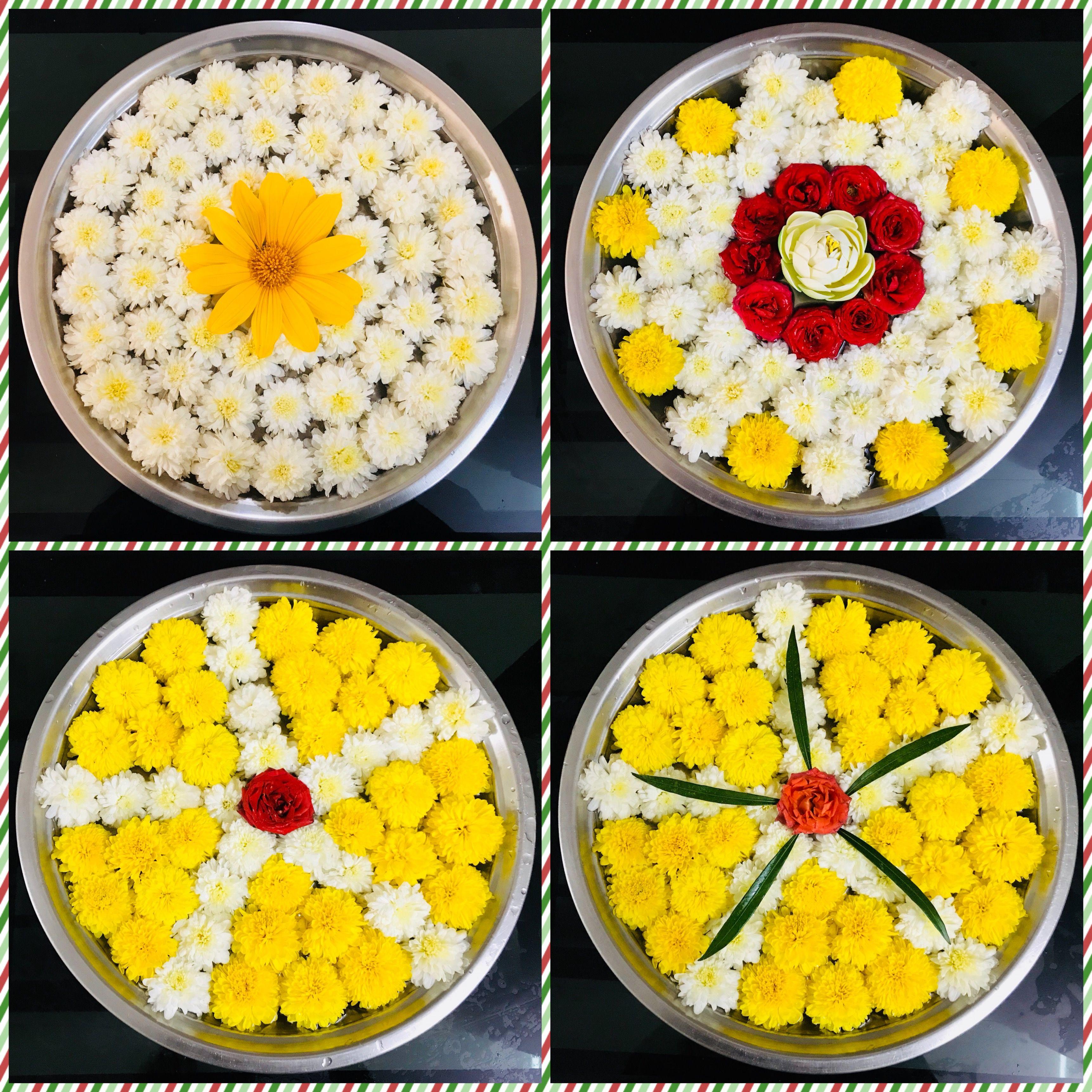 Floating flowers (With images) Ganpati decoration design