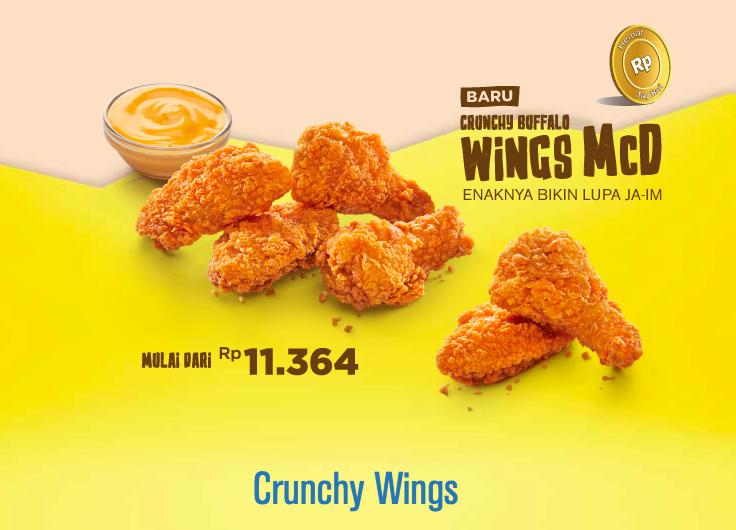 Mcd Crunchy Buffalo Wings Mcflurry Strawberry Cheesecake Coconut Charcoal Buffalo Wings Makanan