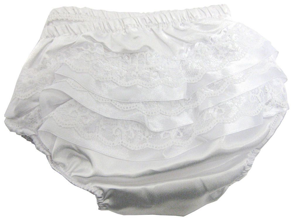 418a5283d049 Soft Touch - Baby White Frilly Pants Knickers Underwear Christening -  FP07-SW in Baby
