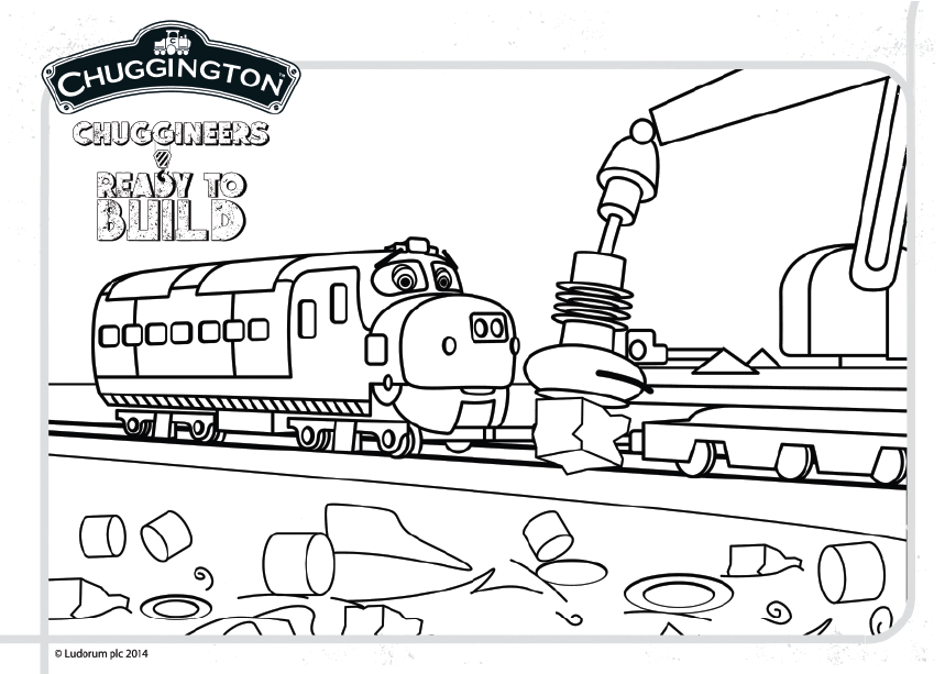 Check Out Our Free Printable Colour Scene Featuring Brewster Chuggington Coloring