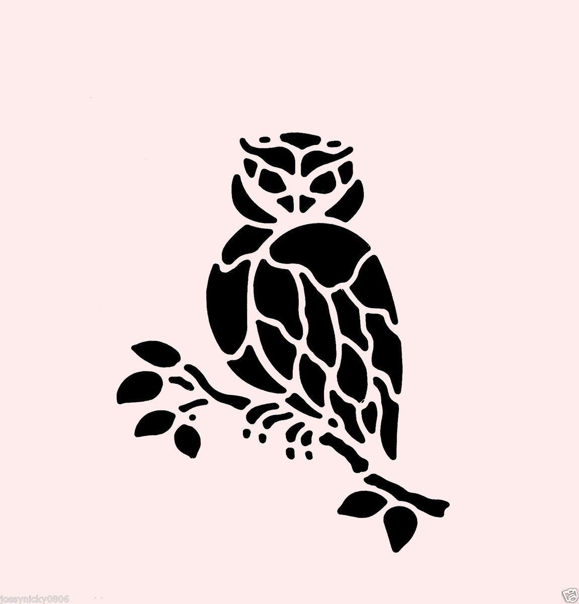 Stencils of owls 96