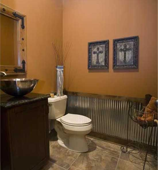 Make your house look like a cabin inside www for Rustic half bath ideas