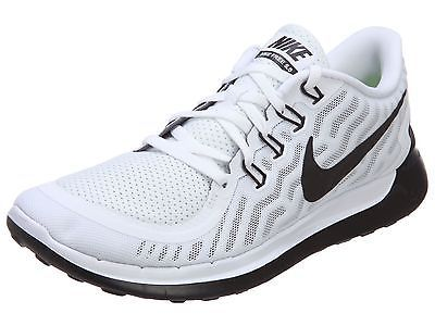 Nike Free 5.0 Mens 724382-100 White Black Running Shoes Athletic Sneakers Size  9 a2b12895ffdd