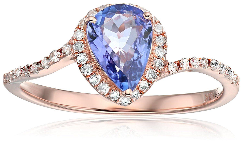 10k White Gold Diamond Princess Diana PearShape