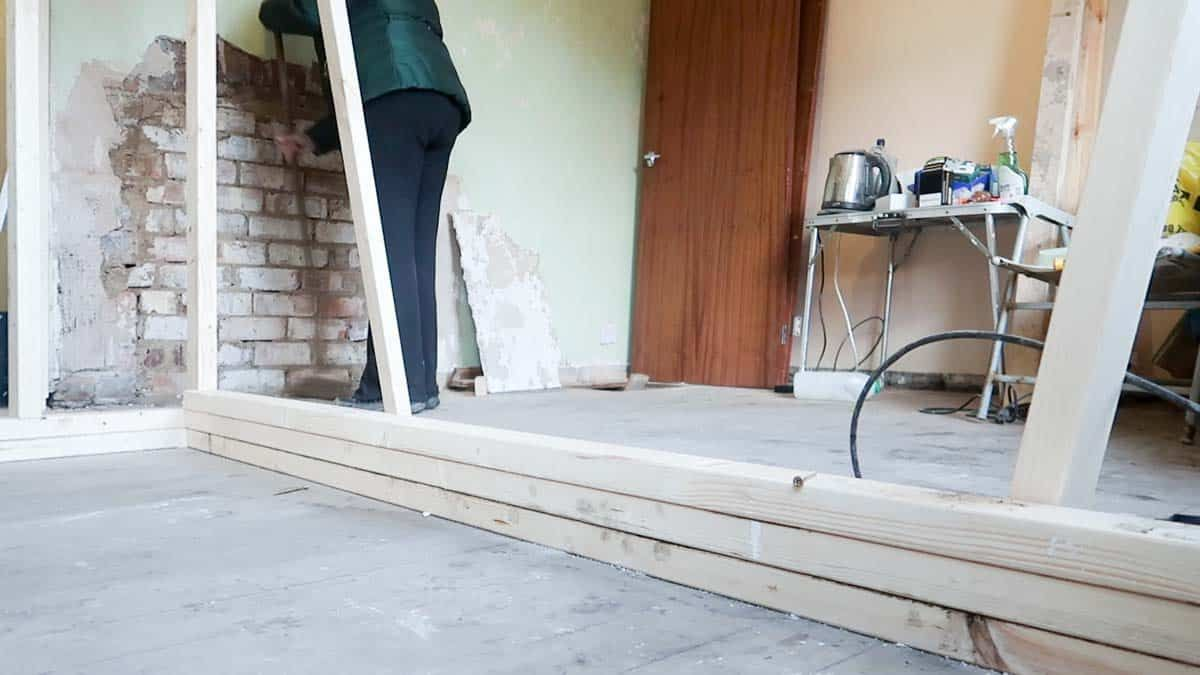 How To Build A Partition Wall Bungalow Renovation Masonry Wall