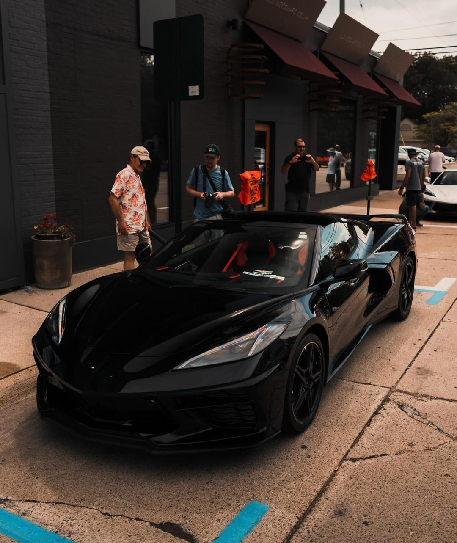 All Black C8 Corvette 2020corvette Eractnia Corvette Black Corvette Chevrolet