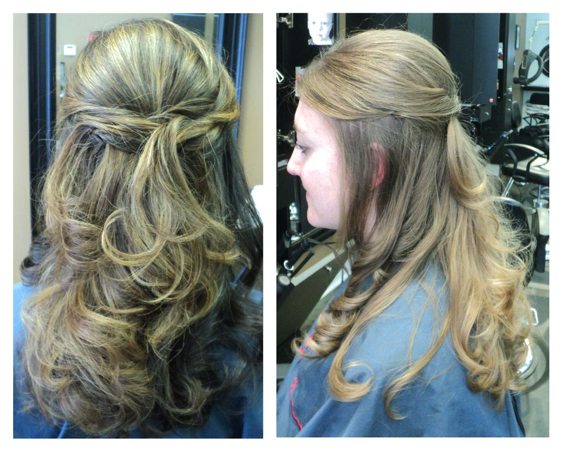 This Is A Great Half Up Half Down Option For Bridesmaids Done Lather Hair Salon Nc Hair Hair Styles Hair A