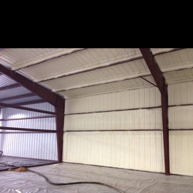 Closed Cell Foam Insulation In Metal Building Metal Building Insulation Metal Buildings Shed Homes