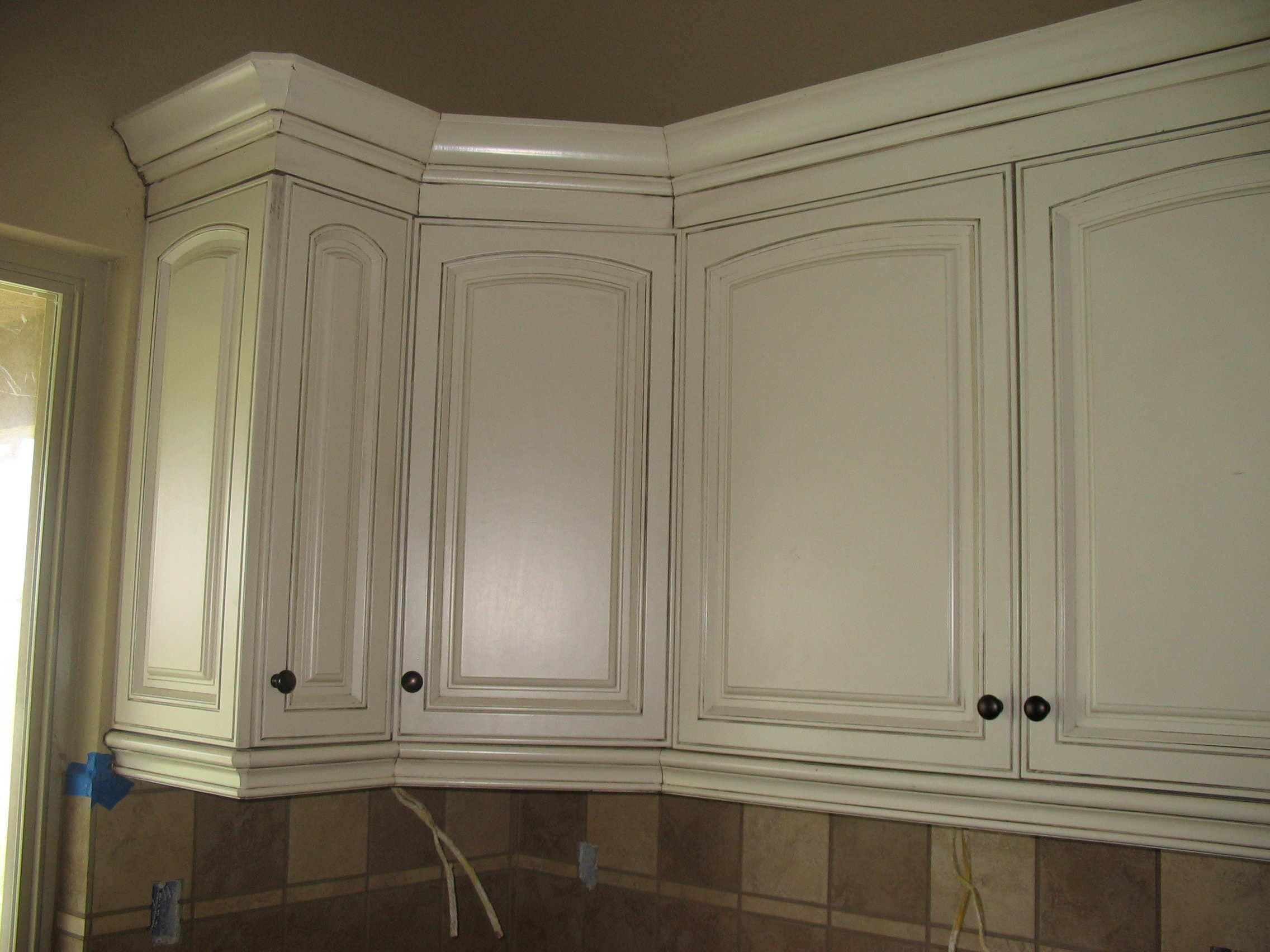 ordinary How To Stain Kitchen Cabinets White #4: White Stained Oak Kitchen Cabinets Cliff
