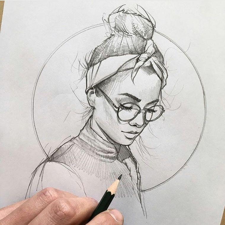 Impara A Disegnare Disegno Di Una Ragazza Abbozzo A Matita Schizzi Disegno Ritratti Disegni Di Tumblr