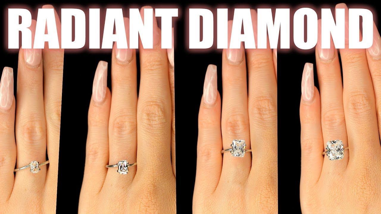 Aside From Diamond Clarity Ct Size Of A Main Diamond Is So Important To Me Nothing Like A Big Rock Diamond Size Chart Diamond Sizes Cute Engagement Rings