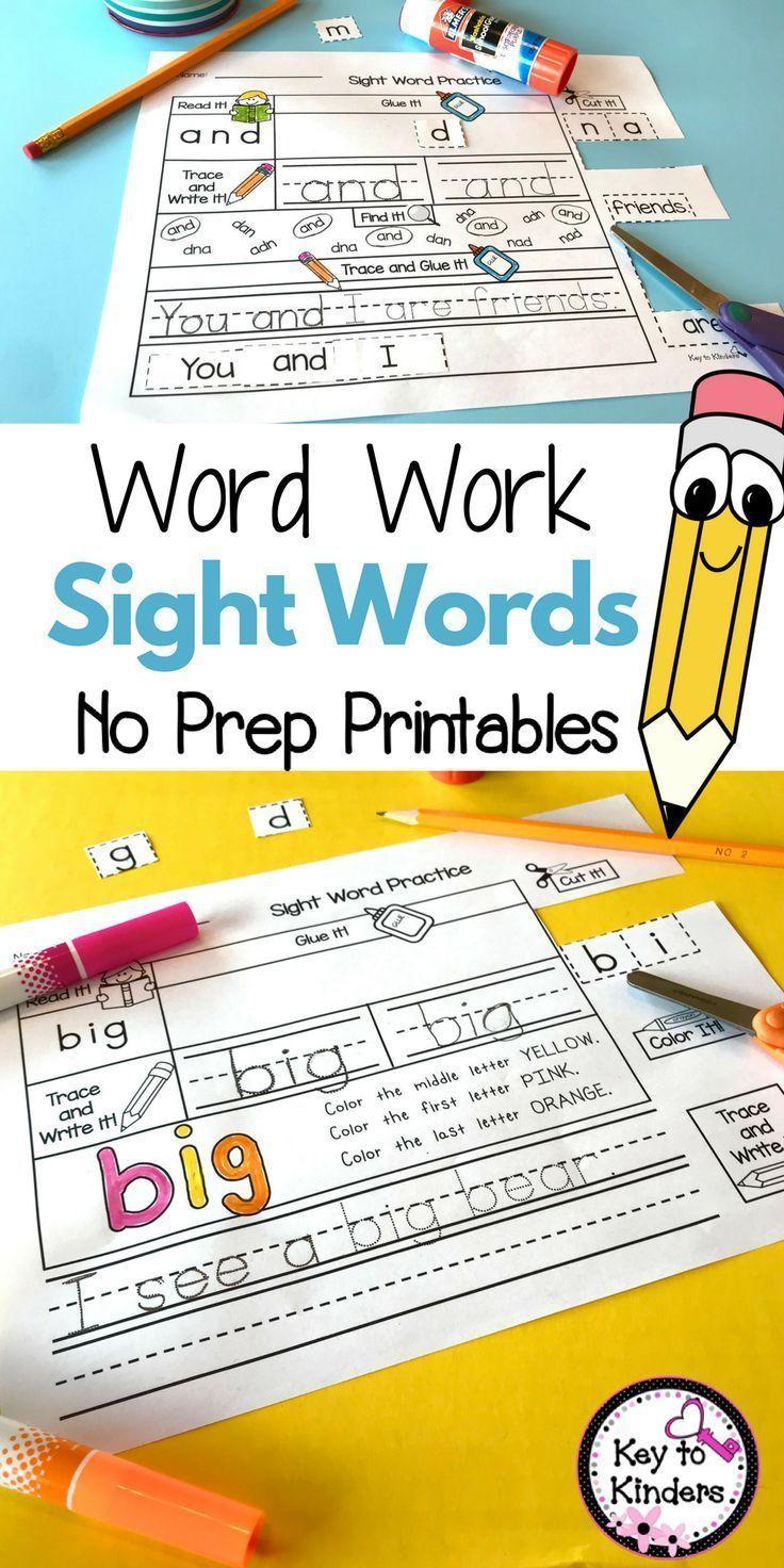 Word work sight words printables set sight words pinterest