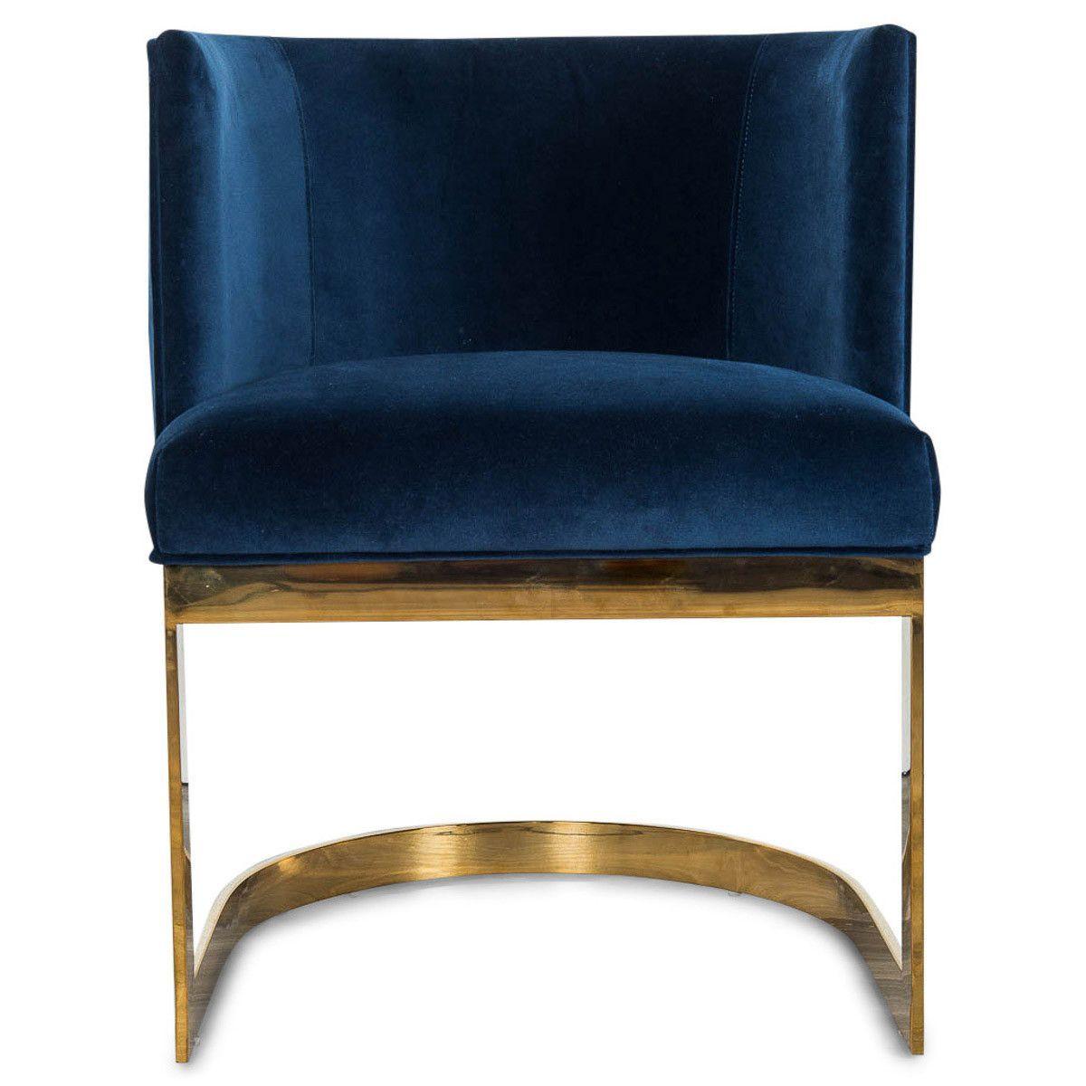 Ibiza Dining Chair In Velvet