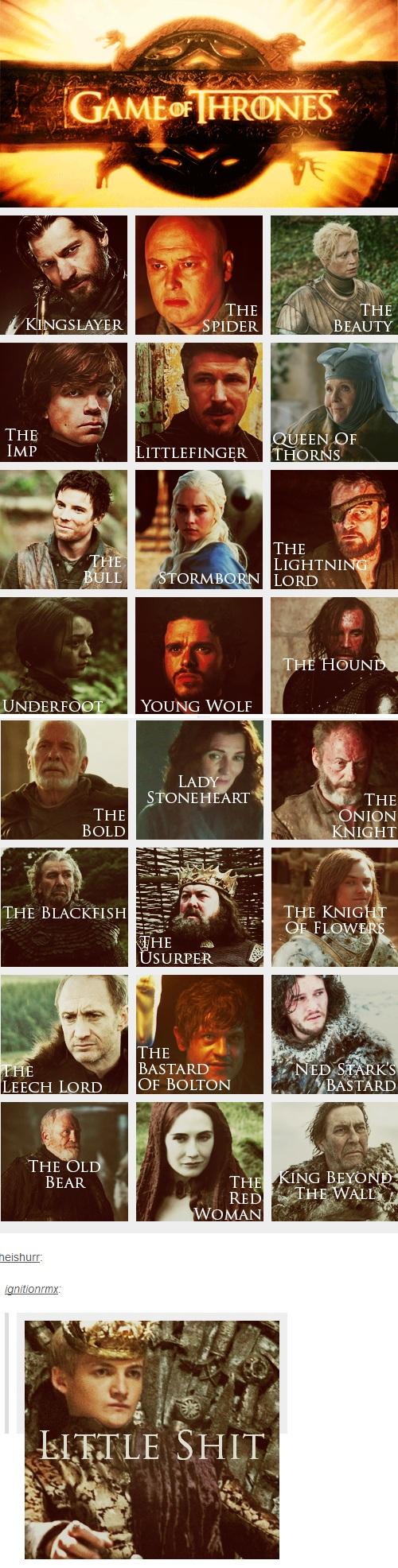 el que queda perfecto es el ultimo jajajaja (gif) Game of Thrones Titles #got #agot #asoiaf