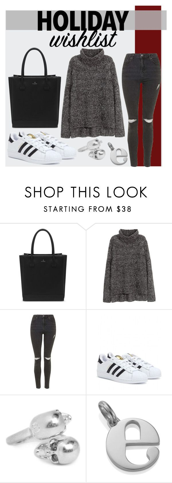 """""""Untitled #2481"""" by elenaday ❤ liked on Polyvore featuring Mulberry, H&M, Topshop, adidas, Alexander McQueen, Monica Vinader, contestentry and 2015wishlist"""