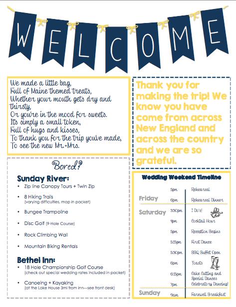 Oot Welcome Letter Packet Weddingbee