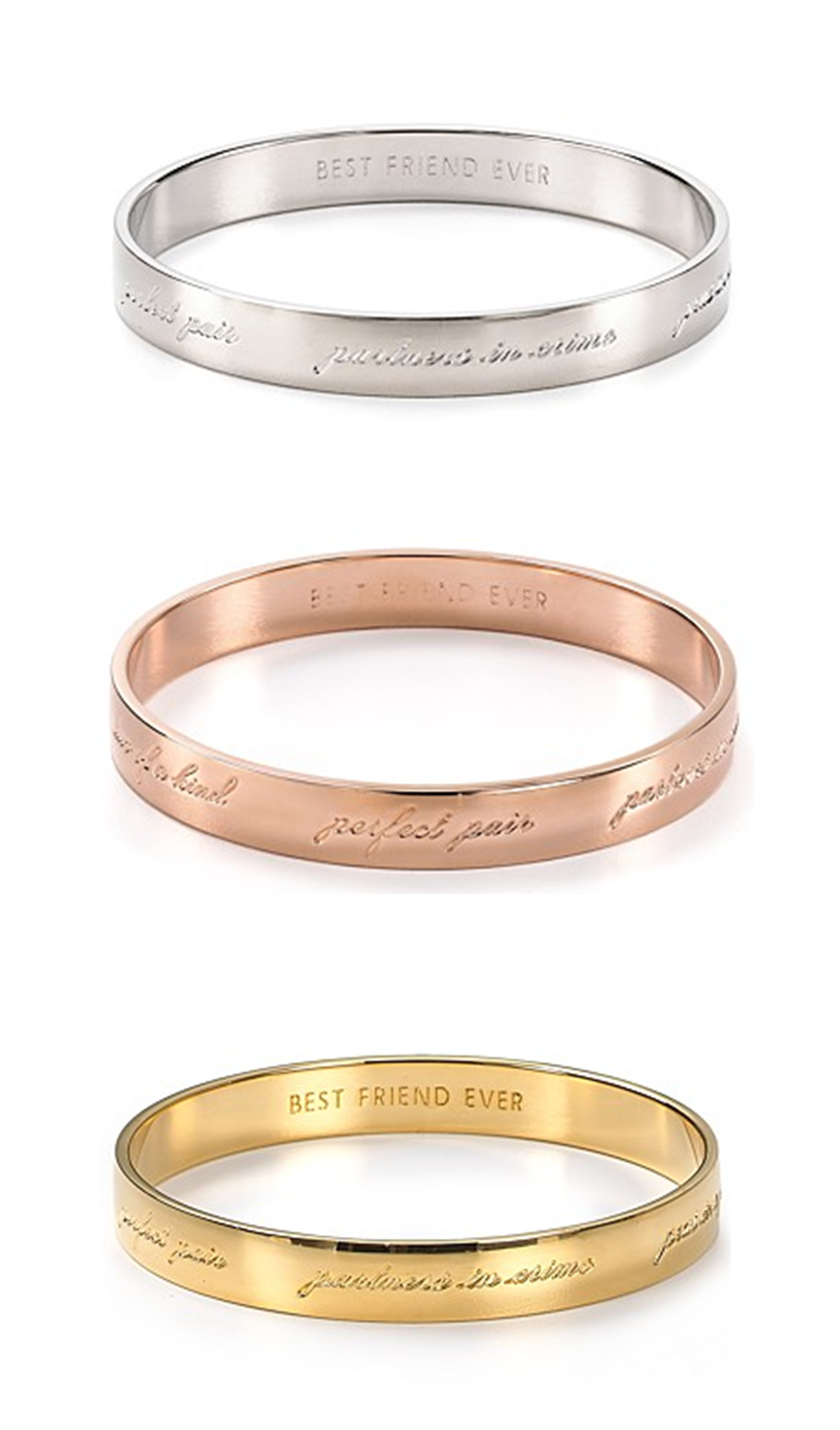 Kate Spade New York Best Friend Ever Bridesmaid Idiom Bangle Bracelet