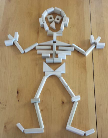Fun Halloween Idea For Kids! Make this funny skeleton from wooden - fun halloween ideas