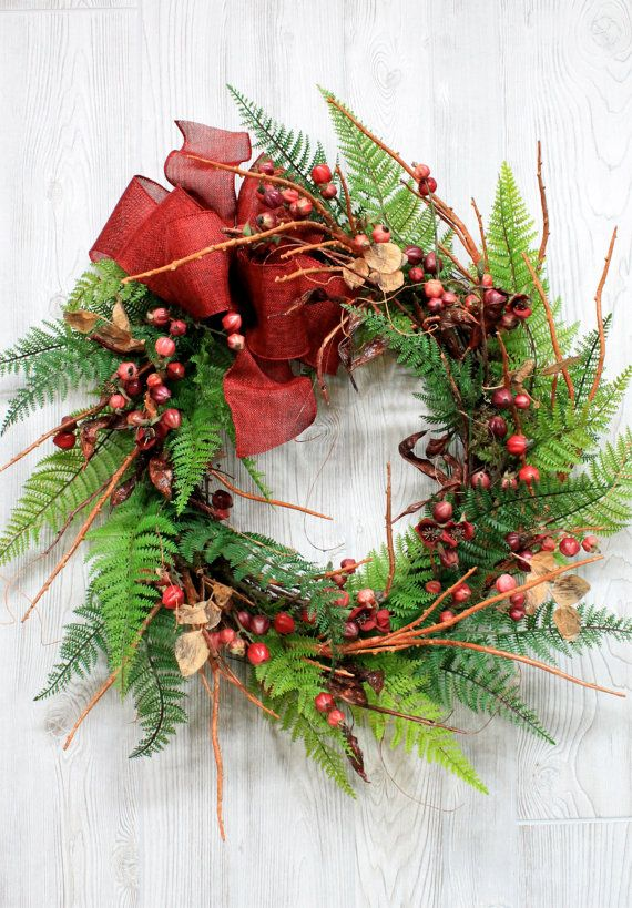 Ships Free Country Christmas Wreath Farmhouse by TheWreathShed - christmas wreath decorations