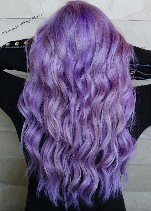 50 Lovely Purple & Lavender Hair Colors in Balayag