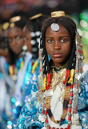 Tuareg girls in Ghadames. | photos: Sasi Hari.