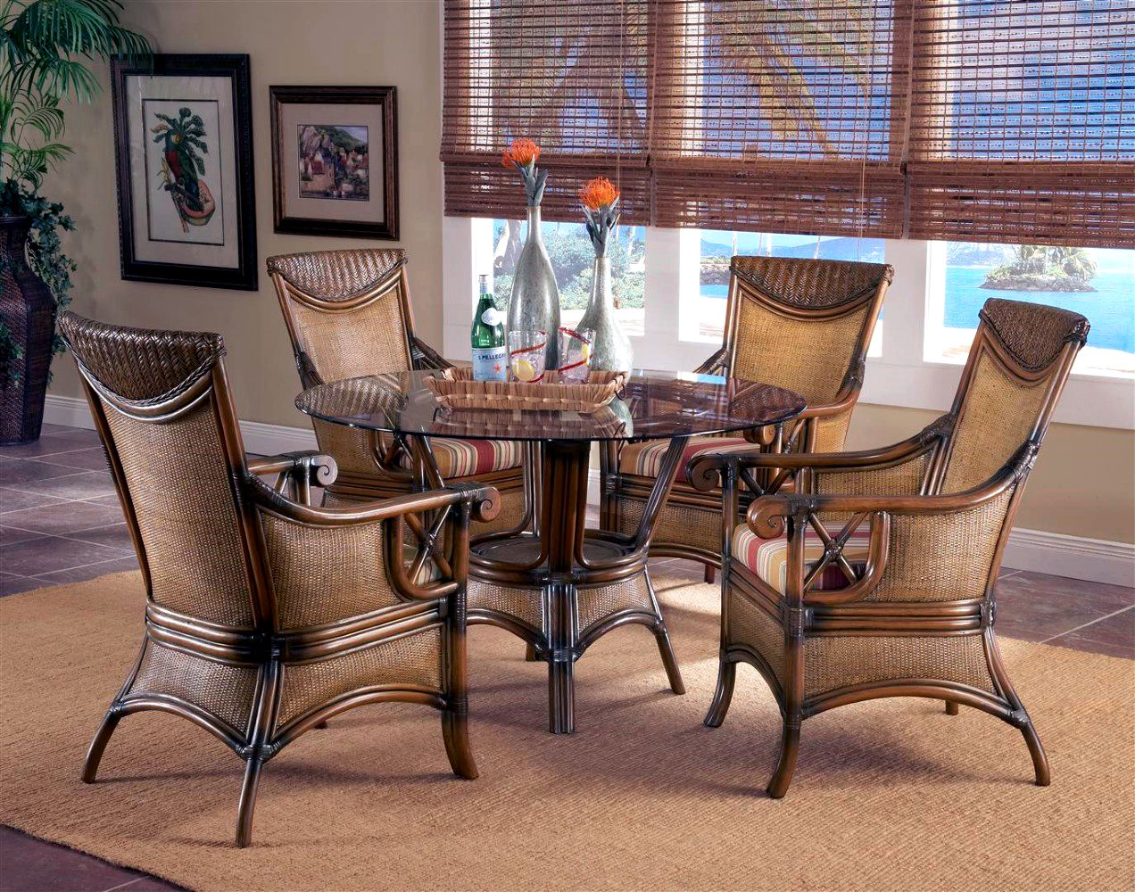 Pacifica Rattan Dining Arm Chair Model 4321 from South Sea ...