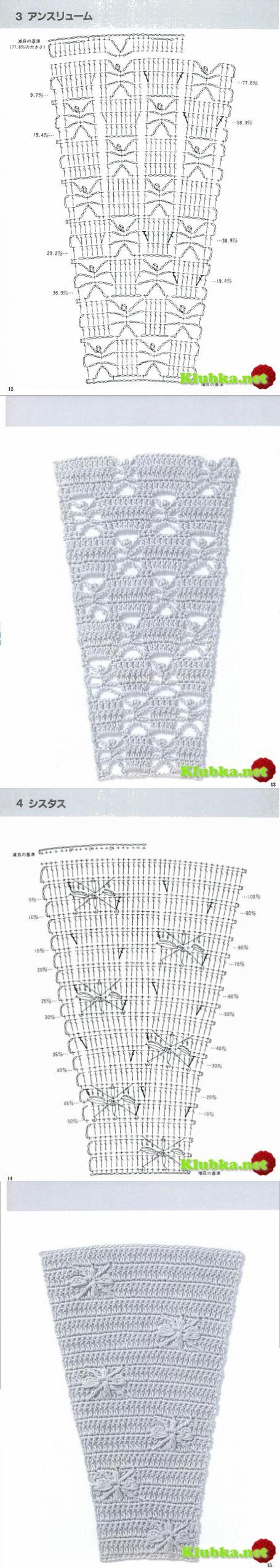 Схема расширения юбки крючком фото 269