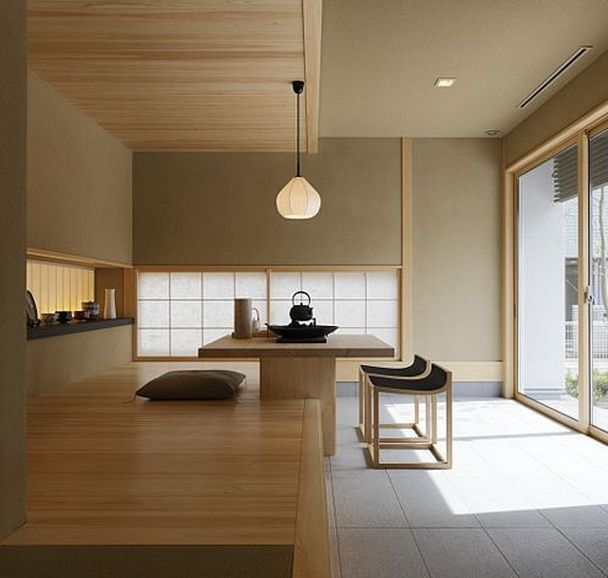 12 modern japanese interior style ideas contemporary for Zen style kitchen designs