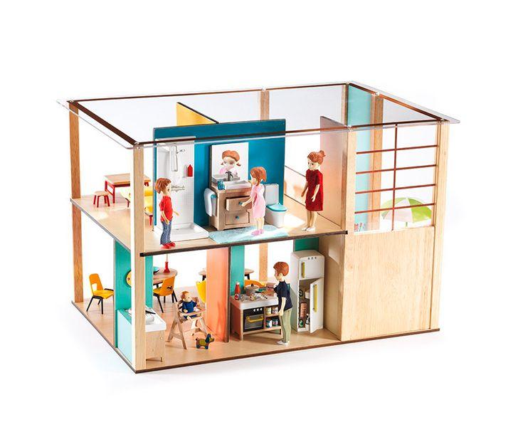 Casa de muñecas Cubic - Djeco :: Moises Showroom   Niñas y Niños ...