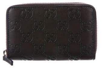 ae658a54dc6 Gucci Guccissima Zip Around Card Case