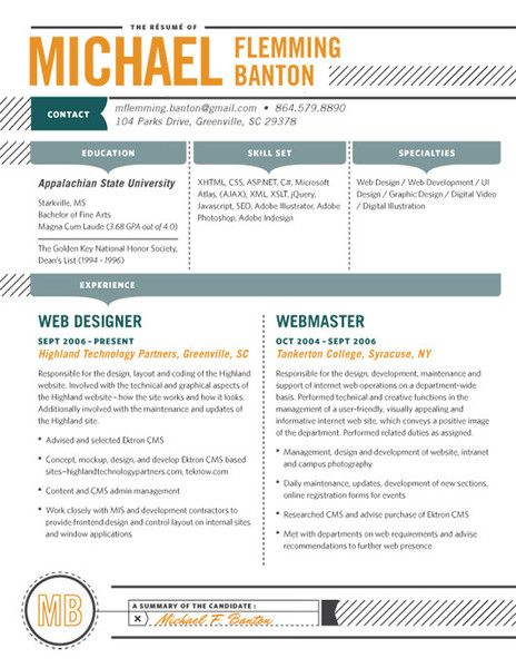 Detailed Resume Design Resume Template Good Resume Examples