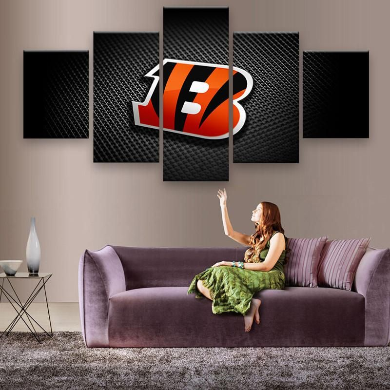 Cincinnati Bengals Canvas Prints 5 Pieces Wall Art Home Wall Decor Home Art Canvas Poster