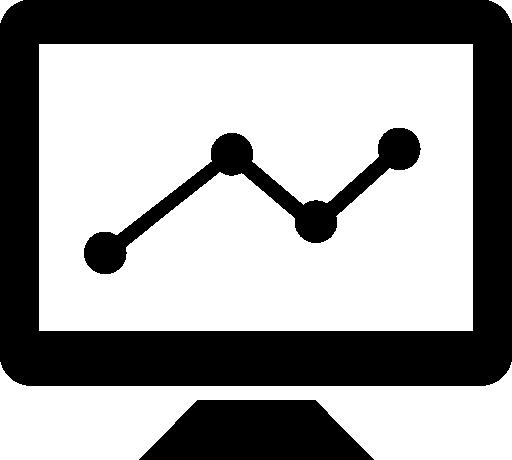 Graph Line Screen Free Vector Icons Designed By Freepik Icono Gratis Iconos Proyectos